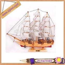 Hand built wood model sailing boat tall ship sailer nautical for christmas decor