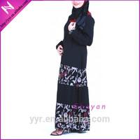 newest peasant stylish dubai black abay