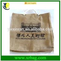 custom fashion cotton jute hand bag tote bag