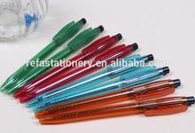 side push transparent giveaway pen for promotion