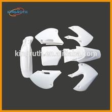 White Dirt bike Plastics Body SSR BBR Pitster Pro KLX110