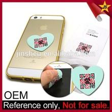 Microfiber custom qr code sticky mobile phone screen cleaner