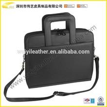 business portfolio for man zipper portfolio/briefcase with handle Top Sale Leather Portfolio Case with ring binder,calculator