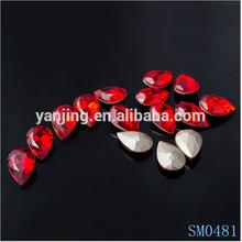 Wholesale fashion colorful hot fix rhinestone
