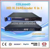 Hot sale 4 CH hdmi h.264 iptv encoder ,digital tv and radio broadcasting equipment COL5100D