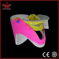 Comfortable fixed shape hard cervical collar