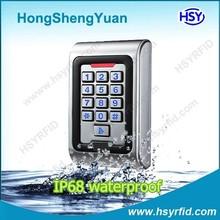HSY-S209 outdoor metal rfid reader waterproof standalone access control with IP68 waterproof