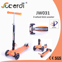 2014 new patent product high quality foldable kids kick scooter 3 wheel adult kick scooter