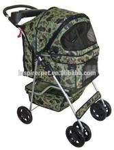 New BestPet Camouflage 4 Wheels Pet Dog Cat Stroller Carrier w/RainCover