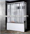 Recinto de ducha baño cristal templado masaje vapor remolino/cabina de ducha/habitación de ducha