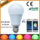 Bluetooth Wireless Control Multicolor LED Light Bulb 100-240V 7w Smart Lighting