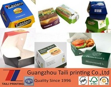 New design bento packaging box with burger food/packaging dinner lunch paper box/fastfood packaging lunch box take away food box