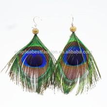 Peacock Feather Zinc Alloy Dangle Earrings for Women earring (BF-ME-14102810)