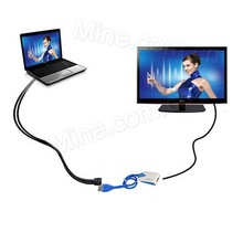 pc to tv connector USB to HDMI multi monitors display on HDTV free shipping