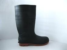 Pratical Perfect Waterproof Anti-Acid Anti-Slip Black Steel Toe Work Men Rain Boots