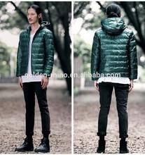 YKK or SBS zip men's hooded coat manufacturer