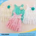 2015 niños ropa de partido del cordón vestido del verano del bebé