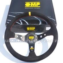 Suede Leather Racing OMP Steering Wheel 350mm