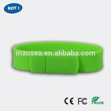 Promotion fashion cheap 2gb-4gb silicone bracelet usb flash drive