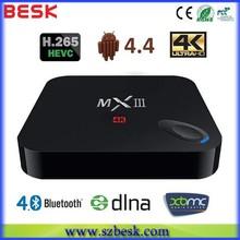 MX III Quad Core smart TV BOX MXIII 2G RAM 8G ROM mini pc MX3 WiFi Remote Control Android TV box