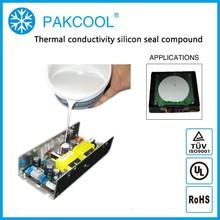0.8W/m.K thermal conductivity silicone rubber adhesive glue for solar inverter