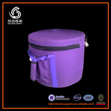 Quartz singing bowl cancas carry case