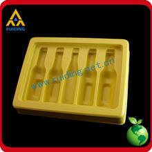 Standard design cheap price rectangle white vegetable plastic tray