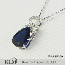 PSP009 2014 Hot sale gemstone 925 Sterling Silver Pendants wholesale Product
