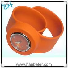 Top quality waterproof fashion silicone slap watch king quartz watch