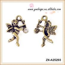 Wings Angel Key Necklace Jewelry Diamond - stud Pendant Christmas Antique Bronze Color