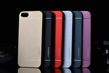 Fashion Double Color Motomo 3 5S Aluminum PC metal Drawing slim Hard Back Cover Case For iphone 4 5 5G 4S 5S 5C