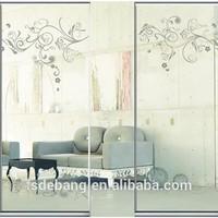 aluminum frame interior glass door for bedroom
