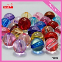 Mixed color acrylic transparent chunky bubblegum beads fit bracelet/pendant/necklace diy P00172