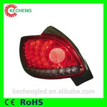 2 years warranty ce&rohs 12v car led lighting led rear light for peugoet 206