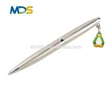 pendant pen, silver ball pen, metal ink pen, MDS-B2043