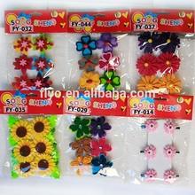 Decorative multi color flower style clothes pegs