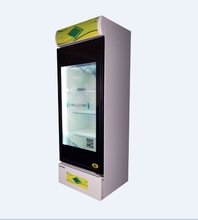 commercial refrigerator with transparent LCD door as promoting product advertising tool