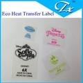 eco de dibujos animados de transferencia de calor etiqueta