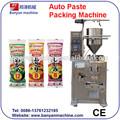 Venta caliente yb150j automática de líquido de chocolate/salsa/pasta de tomate/miel/mermelada/la salsa de soja sobre de la bolsa bolsa de pasta de la máquina de embalaje