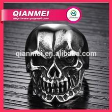mens devil skull ring men's ring 316L Stainless Steel Jewelry Men Rings Weight 19g