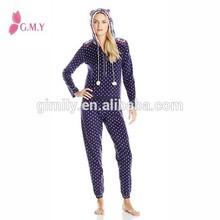 Turkey lovely Women's Onesie Lingerie sleepwear , Fleece Footless Pajamas Overalls Women Adult