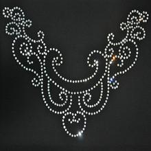 hotfix rhinestone motif neckline designs