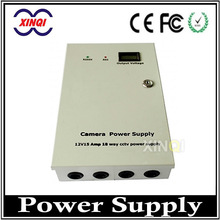 AC DC 12V 15A Power Supply 18 Channel CCTV Power Supply