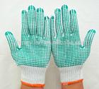 comfortable bleach white grip dots cotton glove