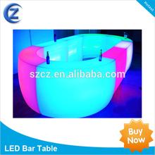led light up furniture/led bar table/led round table sale