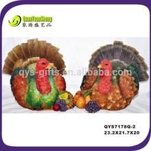 Harvest home decoration thanksgiving turkey statue