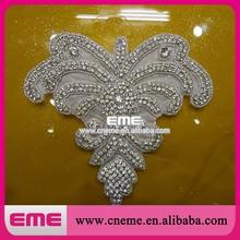 Rhinestone Applique Bridal Accessories Crystal Trim Rhinestone Beaded Applique Wedding Dress Sash Belt