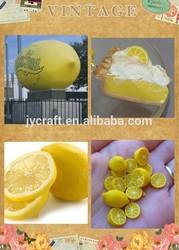 Decorative plastic fruit artificial lemon