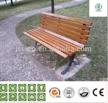 outdoor garden bench with wood plastic composite material