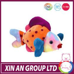 2014 hot sale plush fish baby toy